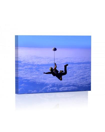 Skok ze spadochronem DESIGN Obraz z oświetleniem LED prostokątny