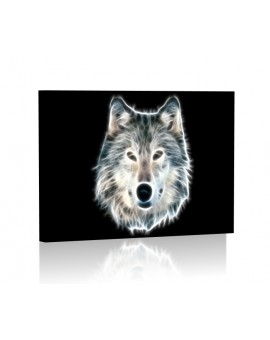 Fractal wolf Obraz podświetlany LED