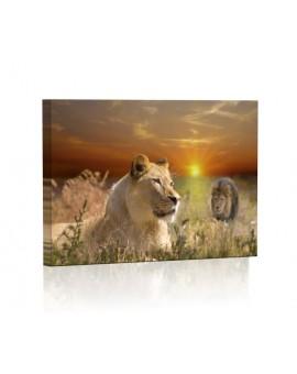 Lwica DESIGN Obraz z oświetleniem LED prostokątny