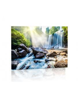 Wodospad DESIGN Obraz z oświetleniem LED prostokątny