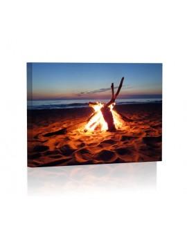 Ognisko na plaży Obraz podświetlany LED