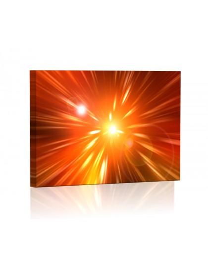 Promienie DESIGN Obraz z oświetleniem LED prostokątny