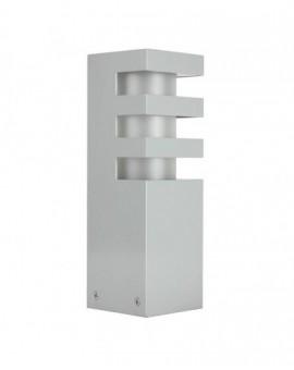 Niski Srebrny Słupek Ogrodowy Lampa stojąca Rado 25 cm