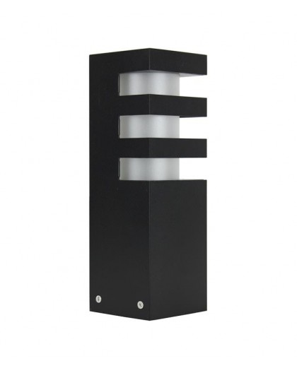 Czarny Słupek zewnętrzny Lampa Ogrodowa Rado 25 cm