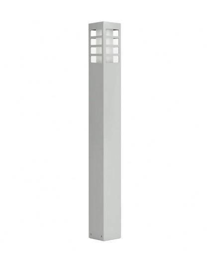 Nowoczesny słupek ogrodowy Rado III 75 cm srebrny