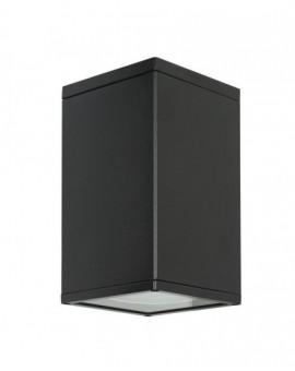 Klasyczna lampa ogrodowa kwadratowa Adela czarna