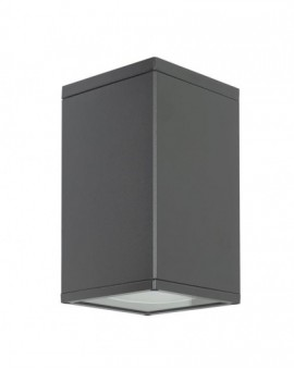Classic garden lamp square Adela dark grey