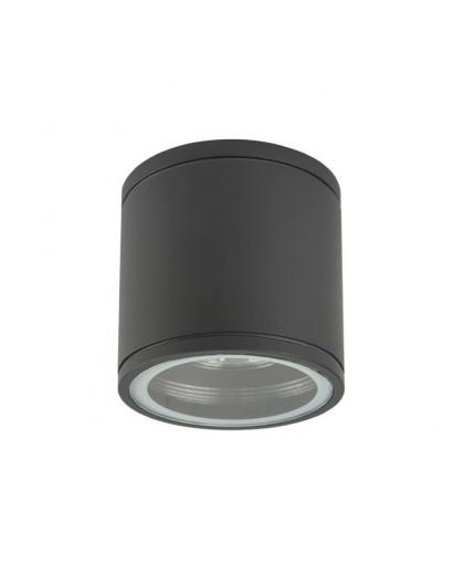 Klasyczna lampa ogrodowa okrągła Adela Midi ciemny popiel