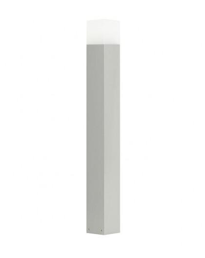Nowoczesny słupek ogrodowy Cube 83 cm srebrny