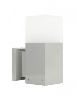 Modern outdoor wall lamp Cube silver