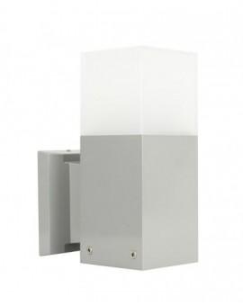 Nowoczesny kinkiet zewnętrzny Cube srebrny