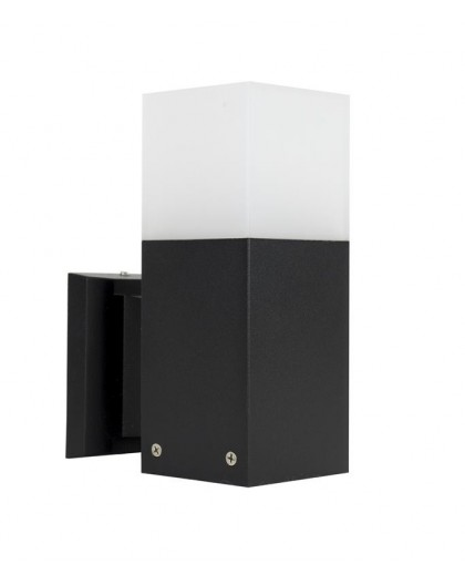 Modern Outdoor Wall Lamp Cube Black