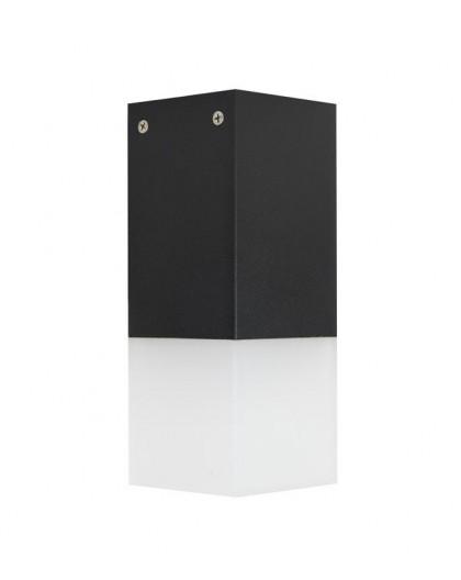 Nowoczesna lampa ogrodowa Cube 44 cm czarna