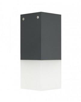 Nowoczesna lampa ogrodowa Cube 44 cm ciemny popiel
