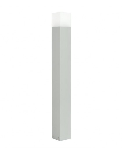 Nowoczesny słupek ogrodowy Cube Max 100 cm srebrna