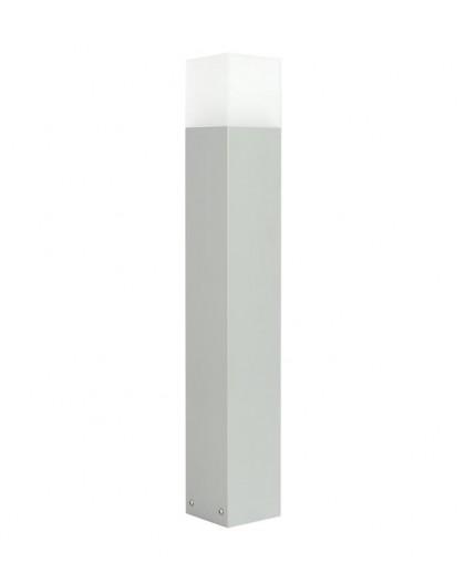 Nowoczesny słupek ogrodowy Cube Max 70 cm srebrny