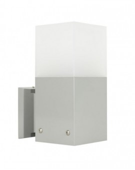 Modern outdoor wall lamp Cube Max silver