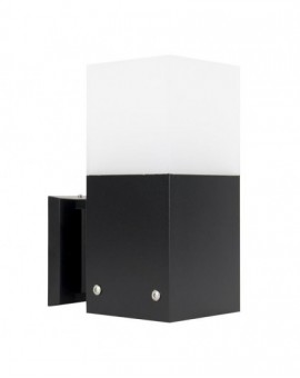 Modern outdoor wall lamp Cube Max black
