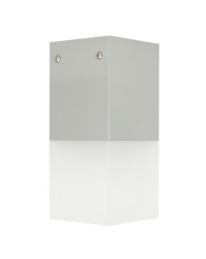 Nowoczesna lampa ogrodowa Cube Max srebrna