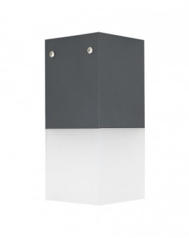 Modern garden lamp Cube Max dark grey