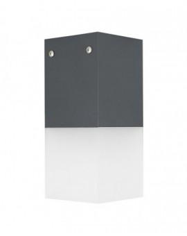 Nowoczesna lampa ogrodowa Cube Max ciemny popiel