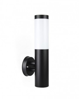 Modern outdoor wall lamp round Inox black