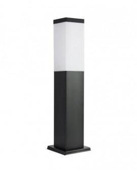 Modern garden lamp square Inox 45 cm black