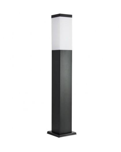 Nowoczesny słupek ogrodowy kwadratowy Inox 65 cm czarny