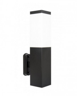 Modern outdoor wall lamp square Inox black