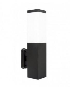 Modern outdoor wall lamp square Inox black