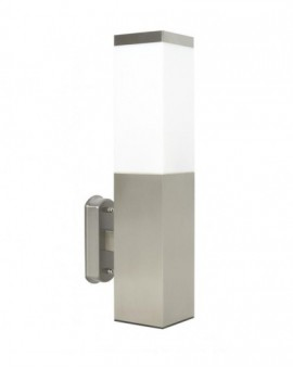 Modern outdoor wall lamp square Inox chrome