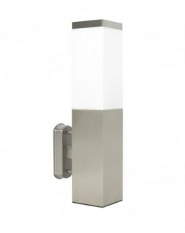 Modern outdoor wall lamp square Inox chrome