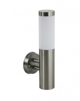 Modern outdoor wall lamp round Inox chrome