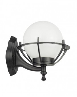 Modern outdoor wall lamp with a basket Kule 25 cm