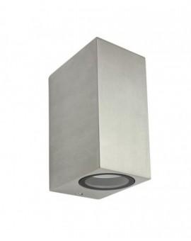 Modern outdoor wall lamp to-way Mini szczotkowane aluminium