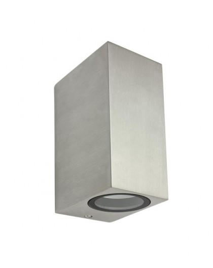 Nowoczesny kinkiet zewnętrzny dwukierunkowy Mini szczotkowane aluminium
