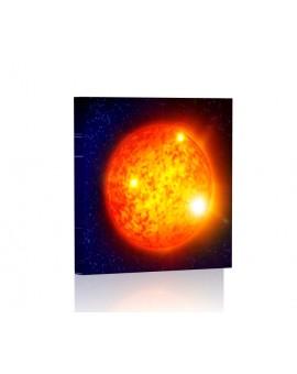 Słońce DESIGN Obraz z oświetleniem LED prostokątny