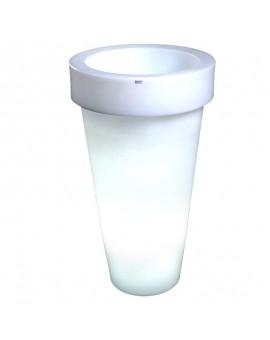 Donica podświetlana LED 75 - 90 cm Pons biała ciepła