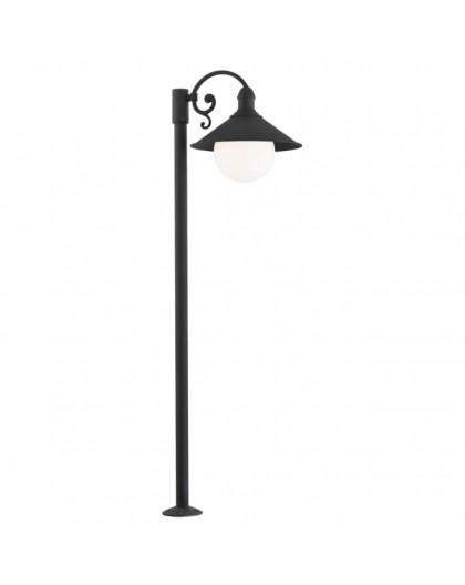 Stojąca Lampa ogrodowa Erba Bis Czarna
