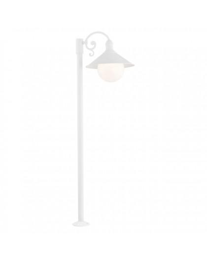 Stojąca Lampa ogrodowa Erba Bis Biała