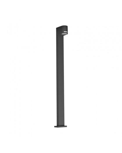 Stojąca lampa ogrodowa Quazar 14 Szara 100 cm