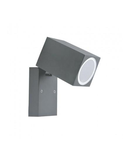 Szary Kinkiet zewnętrzny Lampa ogrodowa Quazar 15
