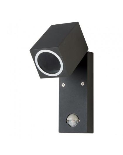 Czarny Kinkiet zewnętrzny Lampa ogrodowa z czujnikiem ruchu