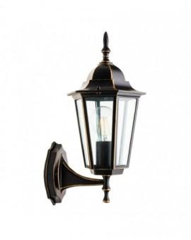 Klasyczny Kinkiet zewnętrzny Lampa ogrodowa LO4101 Czarno-Złoty