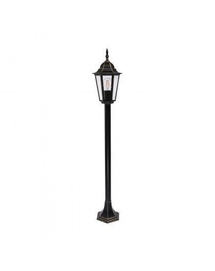 Klasyczna Stojąca Lampa ogrodowa LO4103 Czarno-Złota