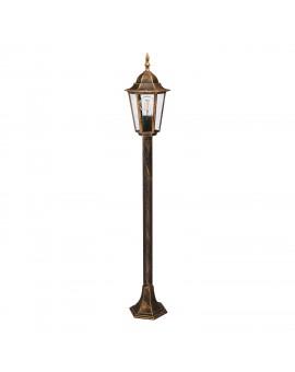 Klasyczna Stojąca Lampa ogrodowa LO4103 Złota