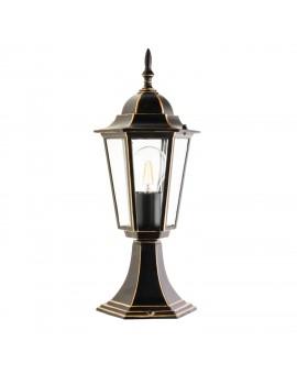 Klasyczna Stojąca Lampa ogrodowa 42 cm LO4104 Czarno-Złota
