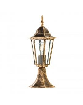 Klasyczna Stojąca Lampa ogrodowa LO4104 Złota