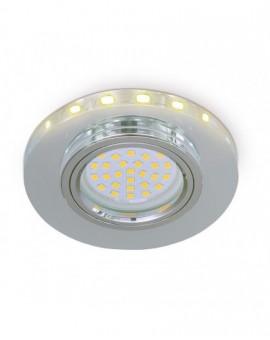 Szklana Oprawa halogenowa Okrągła z paskiem LED Poświata Efekt Halo