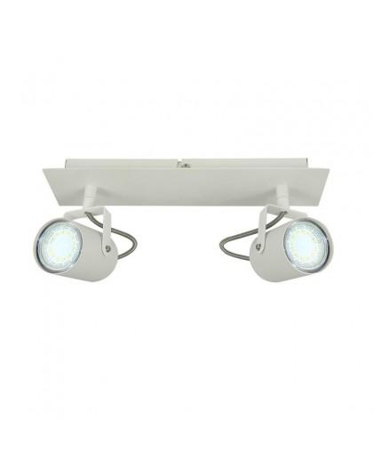 Klasyczna Lampa sufitowa natynkowa Spot Reflektor Arles Biały 2x GU10